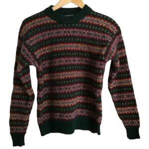 VINTAGE Fair Isles Boiled Wool Crewneck Sweater